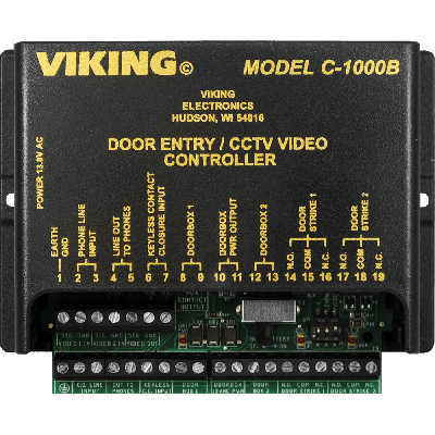 Viking C-1000B Two Door Entry and CCTV Camera Controller