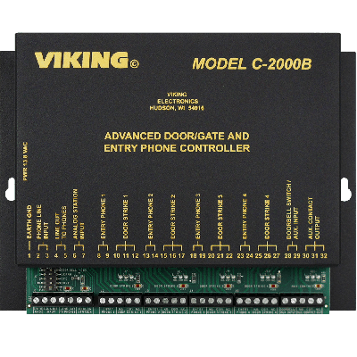 Viking C-2000B Advanced Door and Gate Entry Phone Controller