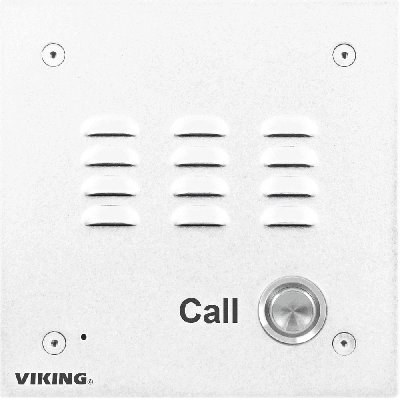 Viking E-10-WHA-EWP Entry Phone with White Aluminum Faceplate and Enhanced Weather Protection