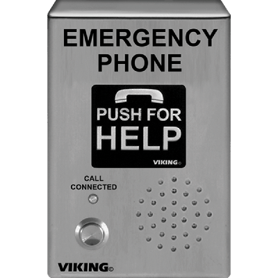 Viking E-1600-03-IP ADA Compliant VoIP Emergency Phones with Built-In Dialer and Digital Voice Announcer