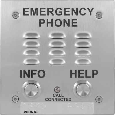 Viking E-1600-20-IPEWP ADA Compliant VoIP Emergency Phones with Built-In Dialer and Digital Voice Announcer