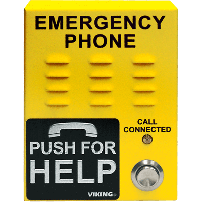 Viking E-1600-45-IP ADA Compliant VoIP Emergency Phones with Built-In Dialer and Digital Voice Announcer