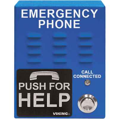 Viking E-1600-65-IP ADA Compliant VoIP Emergency Phones with Built-In Dialer and Digital Voice Announcer