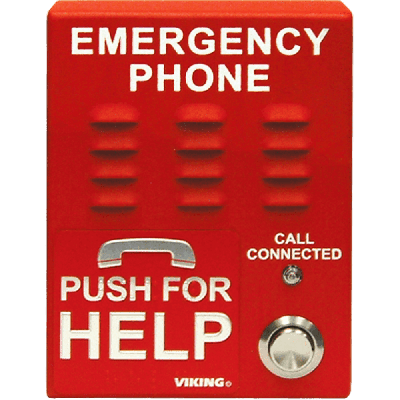 Viking E-1600-IP ADA Compliant VoIP Emergency Phones with Built-In Dialer and Digital Voice Announcer