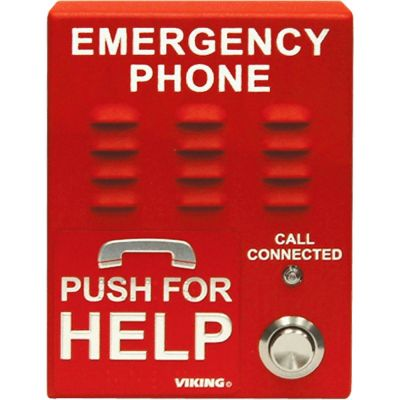 Viking E-1600A ADA Compliant Red Emergency Elevator Phone with Dialer and Voice Announcer