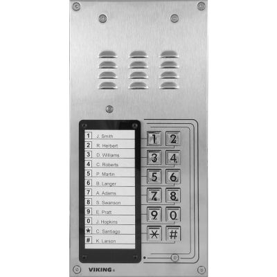 Viking K-1200-IP-EWP VoIP Entry Phone System with 12 Button Auto Dialer