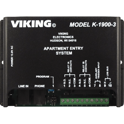 Viking K-1900-3 Door Entry and Keyless Entry for up to 250 Apartments or Offices