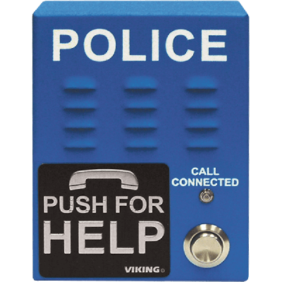 Viking E-1600-60A ADA Compliant, Blue, Handsfree Emergency Police Phone with Dialer and Announcer