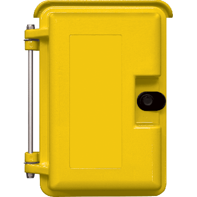 Viking VE-9X12Y-0 Yellow 9x12 Heavy-Duty Outdoor Enclosure with Optional Telephone Label and No Adapter Panel